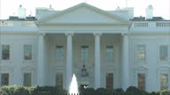 Exterior arty shots of the White House with soft focus pulls and a window cleaner at work on November 03 2015 in Washington DC