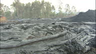 Exterior close up shots of cooled lava rock on Nyiragongo volcano on January 20 2002 in the Virunga Mountains Goma Democratic Republic of Congo