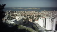 Exterior Day-steady view of the city of Marseille and surrounding views. Travel destination.