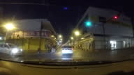 Exterior driving shots at night time through the streets of Culiacan on June 06 2015 in Culiacan Mexico
