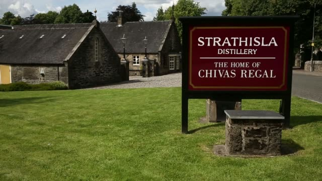 Exterior general views the Strathisla distillery where Pernod Ricard SAs Chivas Regal bended Scotch whisky is produced stands in Keith UK on Tuesday...