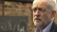 Exterior interview Jeremy Corbyn Labour Leader talks about Ken Livingstone comments on Hitler being a 'Zionist' and problems of antiSemitism in the...