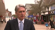 Exterior Interview Philip Hammond Foreign Secretary speaking about Argentinian law suit against British companies drilling for oil and gas in the...