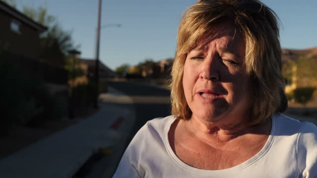 Exterior interview with a resident of the Mesquite retirement community where gunman Stephen Paddock lived speaking about being unnerved by the...