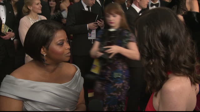 Exterior interview with actress Octavia Spencer speaking about being nominated for Best Supporting Actress for her role in Hidden Figures>> on...