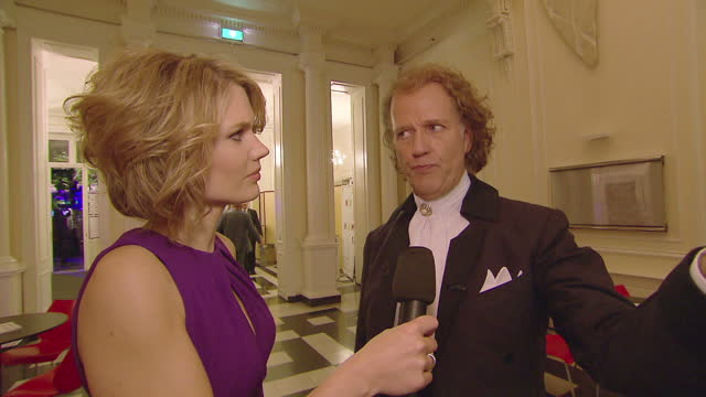 Exterior interview with Andre Rieu composer violinist on his anniversary performance Andre Rieu Speaks to Sky News on June 27 2012 in Maastrict...