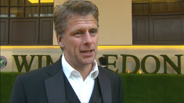 Exterior interview with Andrew Castle TV presenter and former tennis player on the red carpet at the Wimbledon Championships 2013 Winners Ball Andrew...