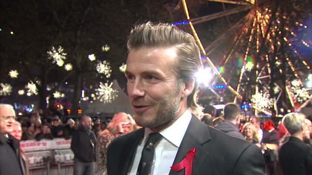 Exterior interview with David Beckham speaking about what made his early years with Manchester United so special and so successful London Premiere of...