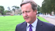 Exterior interview with David Cameron MP about standing down as Member of Parliament for Witney thanking the local Witney community conservative...