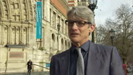 Exterior interview with Geoffrey Marsh Victoria and Albert Museum curator on the life and work of David Bowie on January 11 2016 in London England
