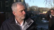 Exterior interview with Labour leader Jeremy Corbyn MP on the recent floods and the Environment Agency's response on December 31 2015 in York United...