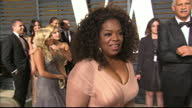 Exterior interview with Oprah Winfrey on February 22 2015 in Los Angeles California