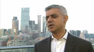 Exterior interview with Sadiq Khan Mayor of London about the Berlin terror attack on Christmas market security in London on December 20 2016 in...