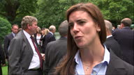 Exterior interview with Sarah Hunter England Women's Rugby player during reception at No 10 Downing Street on 29th August 2017 London England