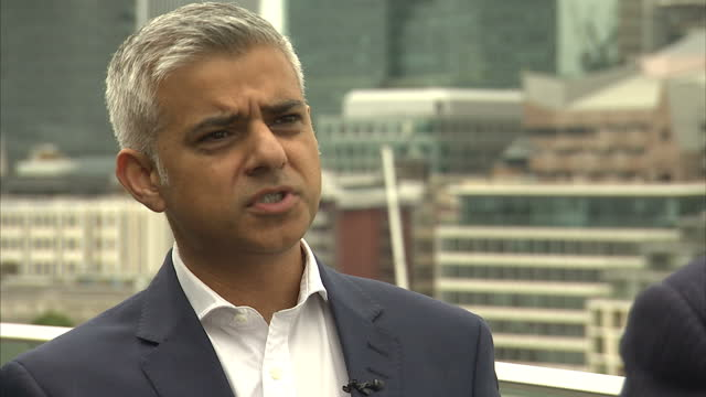 Exterior interview with the Mayor of London Sadiq Khan on the aftermath of the UK's vote to leave the EU on July 30th 2016 in London England