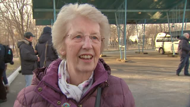 Exterior interview with Tim Peake's parents Angela Nigel Peake about Tim Peake's departure for space at Baikonur Cosmodrome on December 15 2015 in...