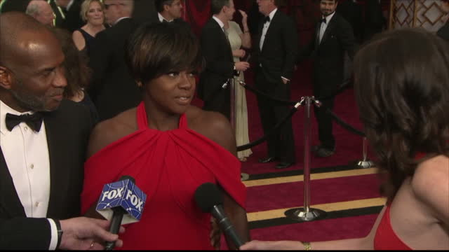 Exterior interview with Viola Davis on the Oscars red carpet speaking about her role in Fences on February 26 2017 in Los Angeles California