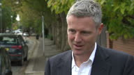 Exterior interview with Zac Goldsmith MP speaking about his opposition to plans to expand Heathrow airport and that he would be prepared to step down...