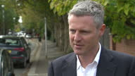 Exterior interview with Zac Goldsmith MP speaking about the ongoing government discussions over airport expansion in the UK and his opposition to the...