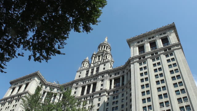 Exterior low angle of the Manhattan Municipal Building located at One Centre Street in New York City NY