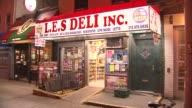 Exterior of a Deli in Lower Manhattan on September 19 2013 in New York New York