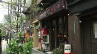 Exterior of a quaint coffee shop in a back street of Akibahara