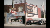 1952 HOME MOVIE Exterior of appliance store / Toronto, Canada
