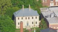 WS AERIAL POV Exterior of Carlyle House / Alexandria, Virginia, United States