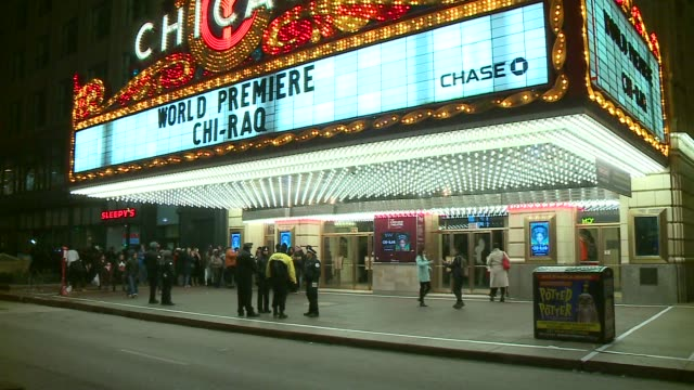 WGN Exterior of Chicago Theater at Chiraq Movie Premiere in Chicago on November 11 2015