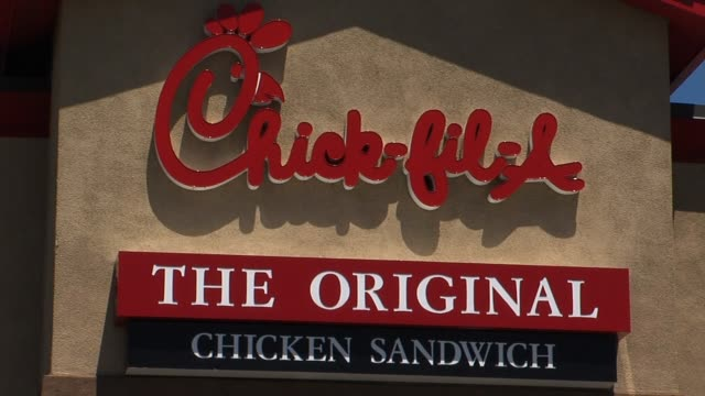 Exterior of ChickFilA Restaurant on August 03 2012 in Los Angeles California