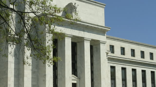 Exterior of Federal Reserve headquarters / Washington DC USA / AUDIO