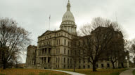 T/L WA LA Exterior of Michigan State Capitol building in Lansing