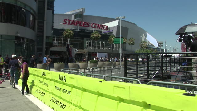 Exterior of the Staples Center before Michael Jackson Memorial Service/ Los Angeles California USA