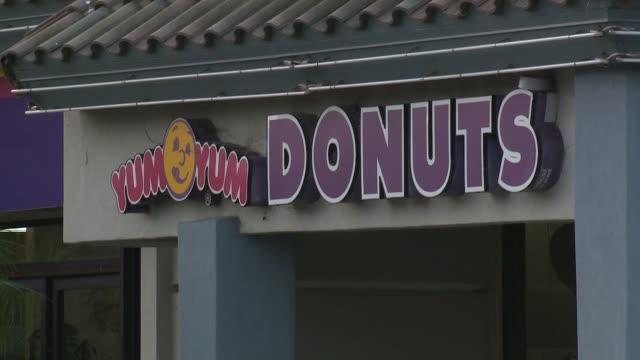 KTLA Exterior of YumYum Donuts in San Diego