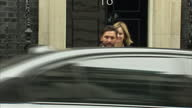 Exterior shot Amber Rudd Home Secretary walks out from Downing Street in London England on Tuesday 14th March 2017