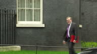 Exterior shot David Mundell MP Scottish Secretary walks into 10 Downing Street in London England on Tuesday 14th March 2017