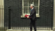 Exterior shot Michael Fallon MP Secretary of State for Defence departs 10 Downing Street in London England on Tuesday 14th March 2017