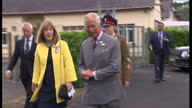 Exterior shot Prince Charles Prince of Wales arrives in Myddfai for 'Harmony in Food and Farming' a conference at Llandovery College organised by the...