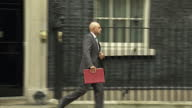 Exterior shot Sajid Javid MP Communities and Local Government Secretary departs 10 Downing Street in London England on Tuesday 14th March 2017