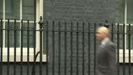 Exterior shot Sajid Javid MP Communities and Local Government Secretary walks into 10 Downing Street in London England on Tuesday 14th March 2017