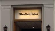 Exterior shots Abbey Road studios building including signage Exterior shots zebra crossing outside the studios Abbey Road Studios Exteriors on...