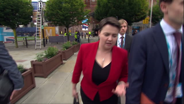 Exterior shots and soundbites as Defence Secretary Michael Fallon Scottish Conservative Party leader Ruth Davidson International Trade Secretary Liam...