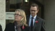 Exterior shots Andy Coulson former editor of The News of The World walks out of Old Bailey and down road Rebekah Brooks Andy Coulson go on trial for...