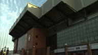 Exterior shots Anfield stadium home of Liverpool Football Club A power struggle has broken out between Liverpool Football club's American owners the...
