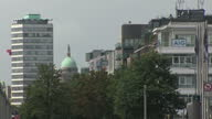 Exterior shots around Dublin harbour area with large new office buildings lining the banks of the River Liffey on 29 July 2017 in Dublin Ireland