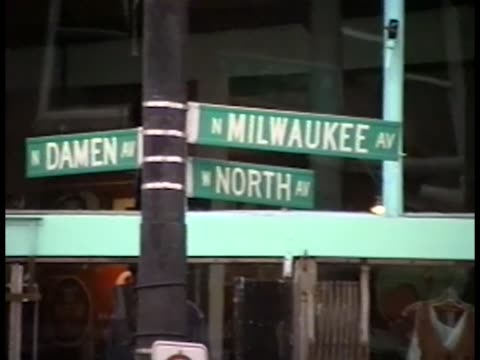 Exterior shots around North Ave / Damen / Milwaukee Ave in Chicago's Wicker Park neighborhood