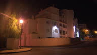Exterior shots at night time of the Ocean Club apartments on 26 October 2016 in Praia da Luz Portugal