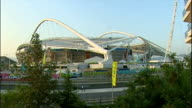 Exterior shots Athens Olympic Stadium on August 28 2004 in Athens Greece