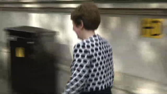 Exterior shots Baroness Stowell departing Downing St through main gate onto Whitehall on July 15 2014 in London England