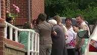 Exterior shots Bernard Jordan 90 year old DDay veteran is welcomed back to his nursing home after he disappeared to attend DDay celebrations in...